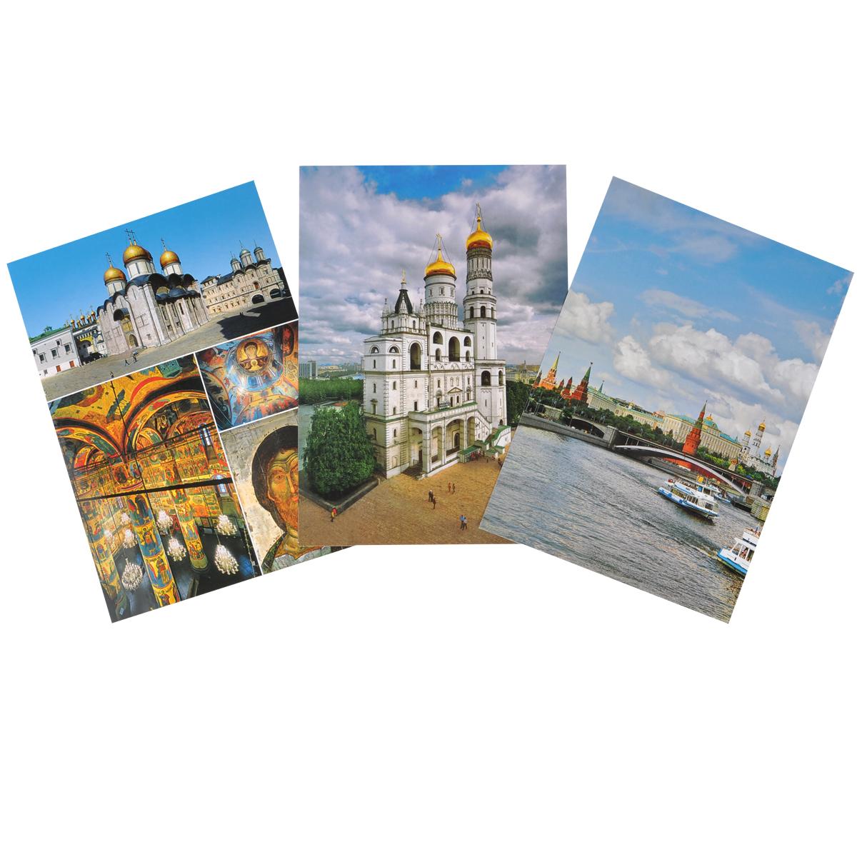 Набор открыток о москве на английском языке, новый год