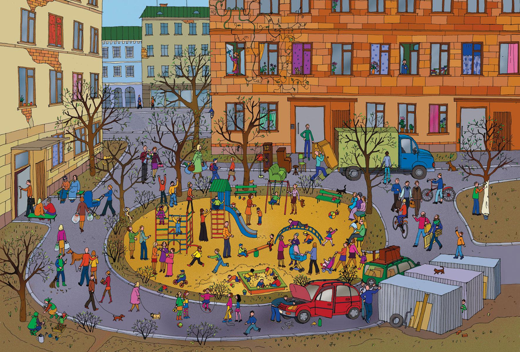Картинки двориков для детей