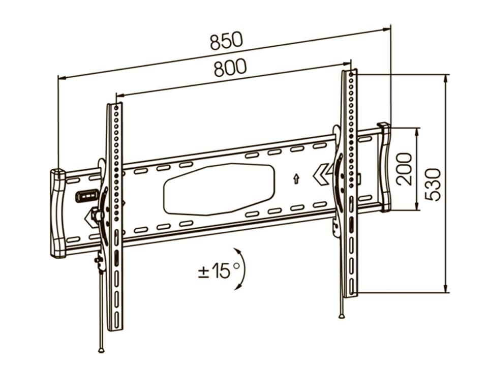 Схема крепления кронштейна для телевизора